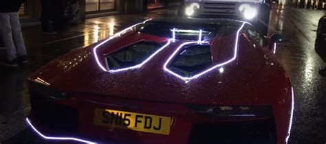 Aventador Lights by Rosso Mars Lamborghini Aventador Gets Covered In Led