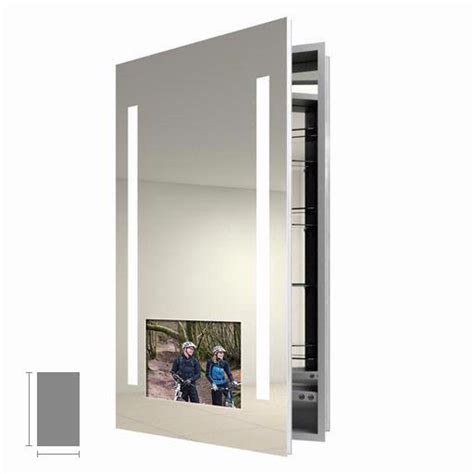 electric mirror bathroom electric mirror visionary 23 25 quot x 40 quot tv medicine cabinet