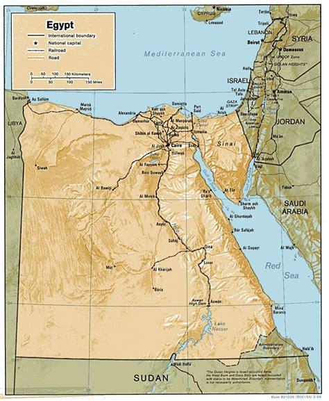 printable map egypt egypt maps printable maps of egypt for download