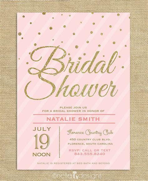 free printable bridal shower brunch invitations blush pink gold glitter bridal shower invitation