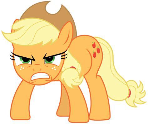 applejack mlp applejack angry vector