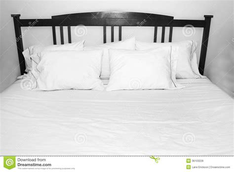 royalty comfort mattress pillows of comfort on white bed royalty free stock photos