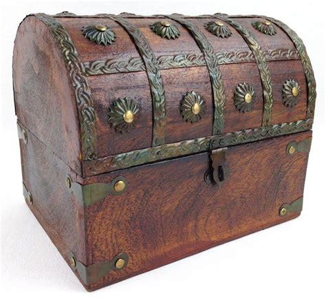 wooden pirate treasure chest decorative storage box 8 quot x6