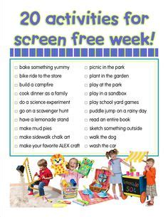 Tv Turnoff Week Essay by 1000 Images About Pta Screen Free Week On Screens Tvs And Free Activities
