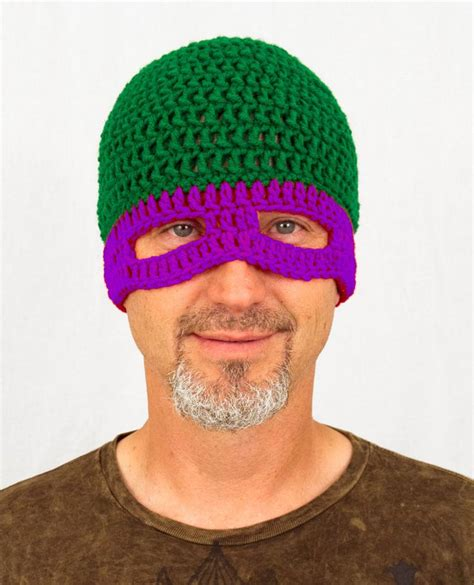 crochet pattern ninja turtle mask tmnt mask hat knit crochet teenage mutant ninja turtles