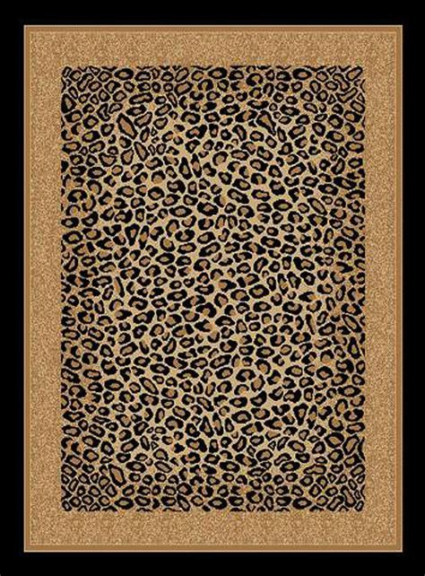 Leopard Print Area Rug Beautiful Leopard Skin Animal Print Area Rug Bordered Carpet Ebay