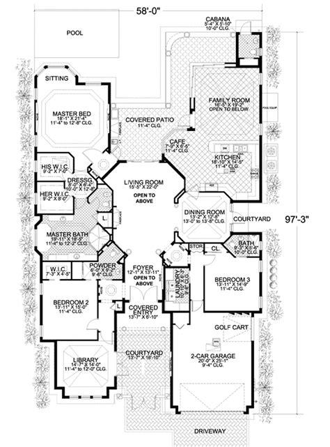 high end house plans high end mediterranean house plan 32011aa