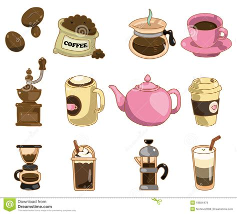 Cartoon Coffee Icon Royalty Free Stock Images   Image: 18684479
