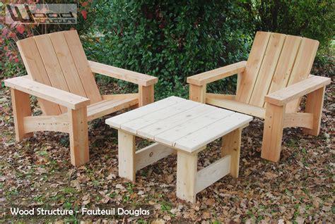 salon de jardin en sapin douglas design wood structure