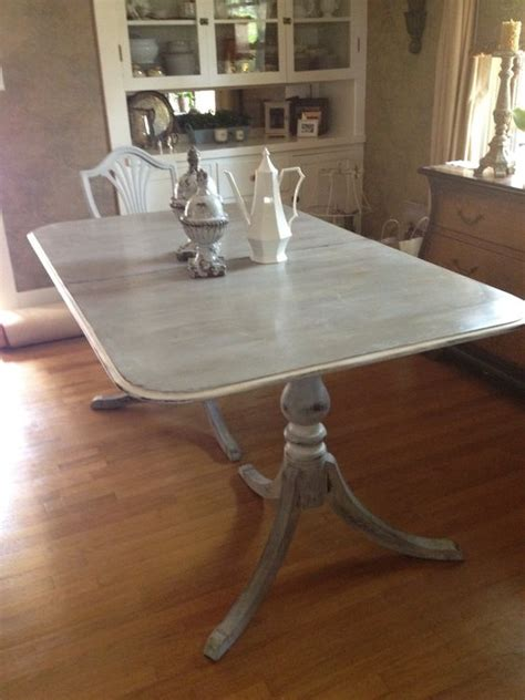 Chalk Paint Dining Room Table Sis And I Ascp Chalk Painted Dining Room Table And Chairs Gray With Strokes Of