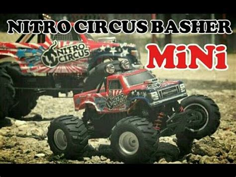 nitro circus rc monster basher nitro circus 4x4 1 16 mini monster truck rc