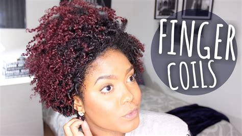 my new natural hair look tapered afro youtube finger coils look great on short natural hair but on