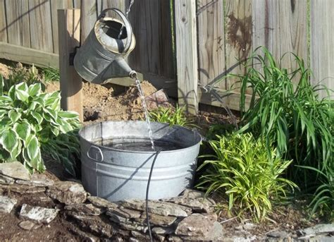 diy backyard fountain vintage watering can diy fountain ideas 10 creative