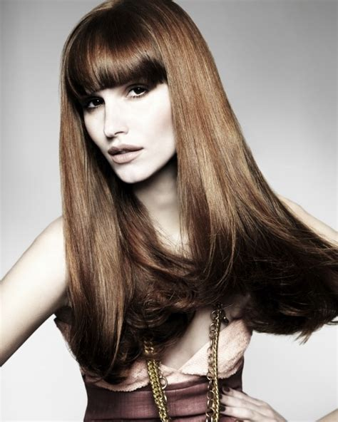 blunt hair cuts with fringe bangs fringe hairstyle trends 2012