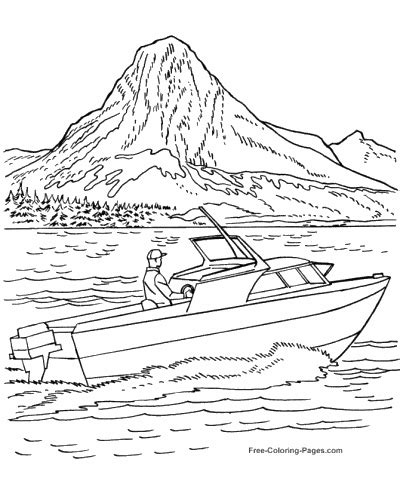 speed boat book boat coloring pages