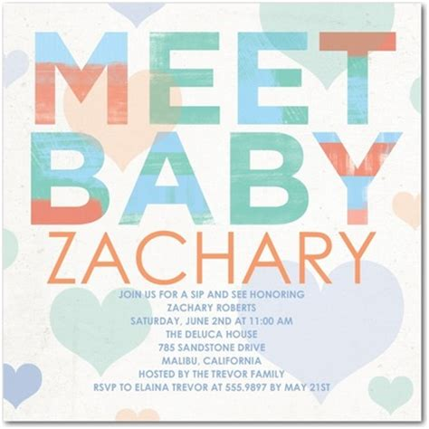 Meet The Baby Shower Invitations And Meet And Greet Baby Shower Invitation Wording I Yourweek Meet The Baby Invitation Templates