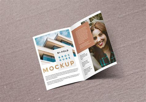 bi fold brochure mockup psd graphicsfuel