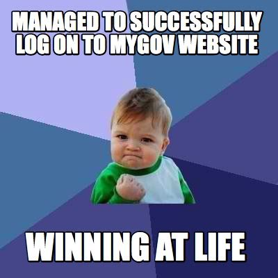 meme creator managed to successfully log on to mygov