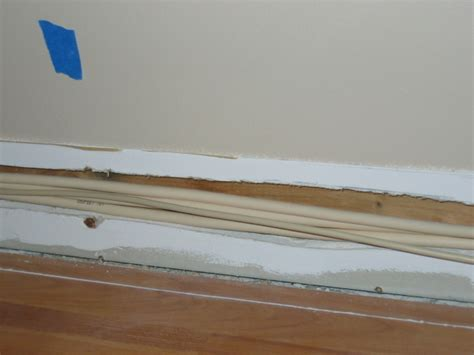 baseboard with wire channel removing baseboards avs forum home theater discussions