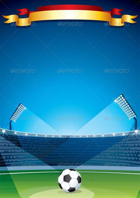 Soccer Stadium Background Vector Design Template By Pilart Graphicriver Sports Graphic Design Templates