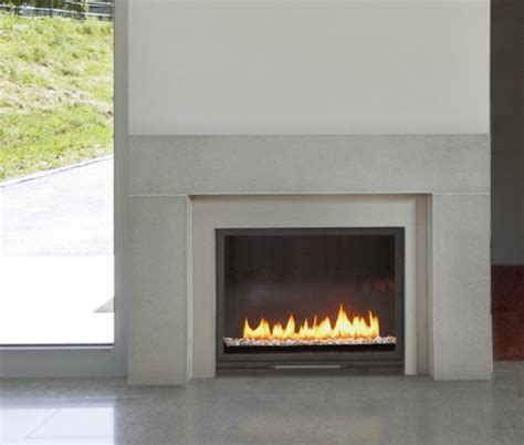 modern fireplace concrete paloform