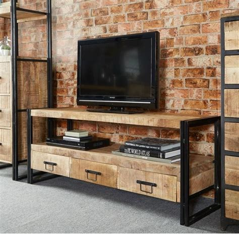 Industrial Metal Tv Cabinet by Best 25 Industrial Tv Stand Ideas On
