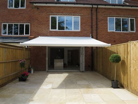 awnings uk modern style electric awning fitted in winchester