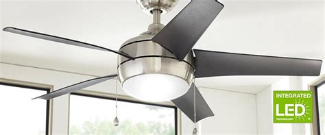 integrated led ceiling fan ceiling fans at the home depot