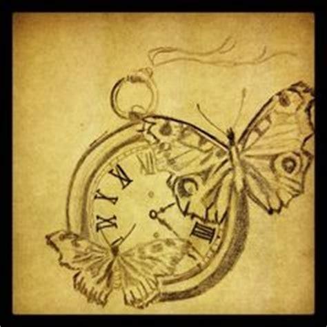tattoo feather clock tattoo ink flower feather script clock butterfly