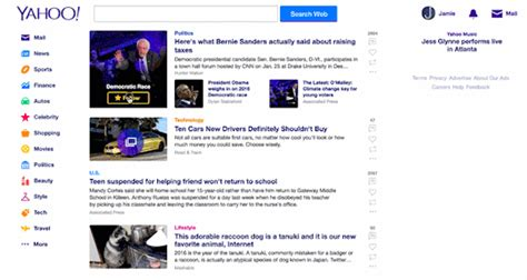 www yahoo search news homepage yahoo redesigns home page app to deliver consistent