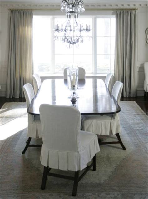 Slipcovered Dining Chairs Transitional Dining Room Slipcovered Dining Room Chairs