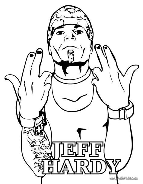 jeff hardy coloring page jeff hardy coloring pages coloring home