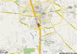 map of conroe map of baymont inn and suites conroe conroe