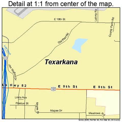 texarkana map texarkana arkansas map 0568810