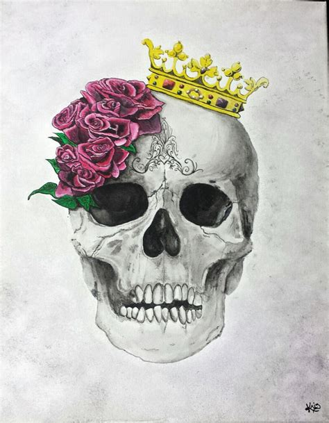 skull with crown tattoo 117 best crowned skulls images on skulls