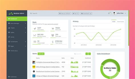 free html5 templates for admin panel 26 best free html5 bootstrap admin dashboard templates