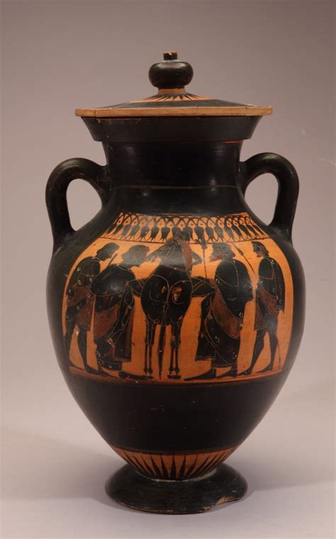 Figure Vase by Black Figure Vase Warriors New Orleans Museum Of