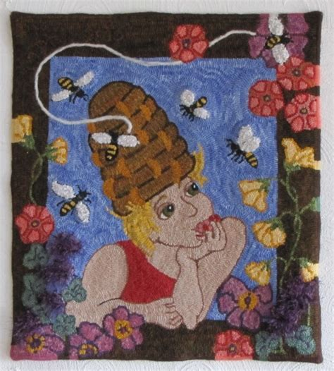 bev conway rug hooking patterns the bee by bev conway added by martha desourdy hopper images frompo