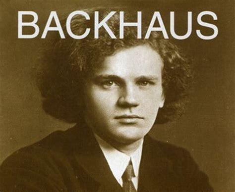 short biography for beethoven wilhelm backhaus piano short biography