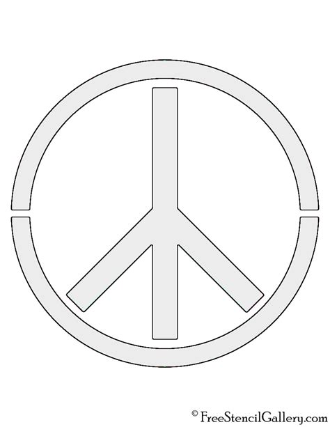 peace sign template peace sign stencil free stencil gallery