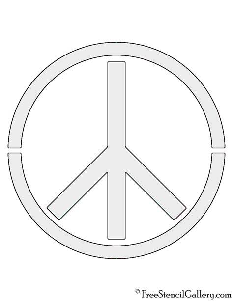 peace sign stencil free stencil gallery