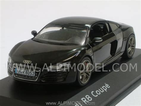 R8 M1621 Panther Black schuco audi r8 coupe 2012 panther black audi promo 1 43 scale model