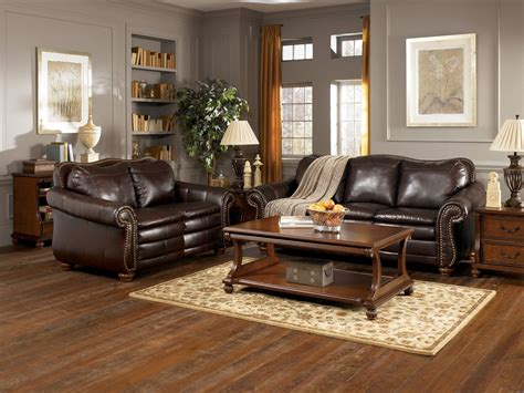fetching grey living room  brown furniture design
