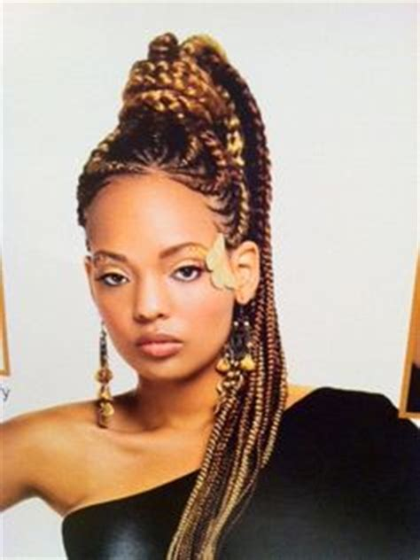 african braids in a ponytail with the saga least with that then 1000 images about african hair styles braids on
