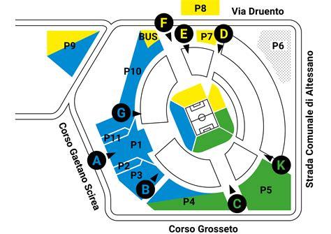 juventus stadium mappa ingressi parcheggi juventus