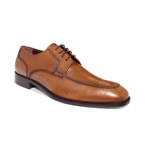 johnston murphy shoes johnston murphy carlock moctoe laceup shoes in brown for