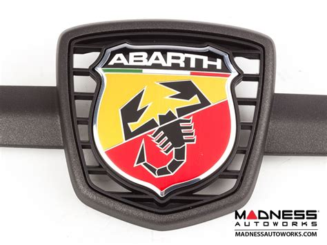 fiat 500 abarth front emblem in matte gray finish 595