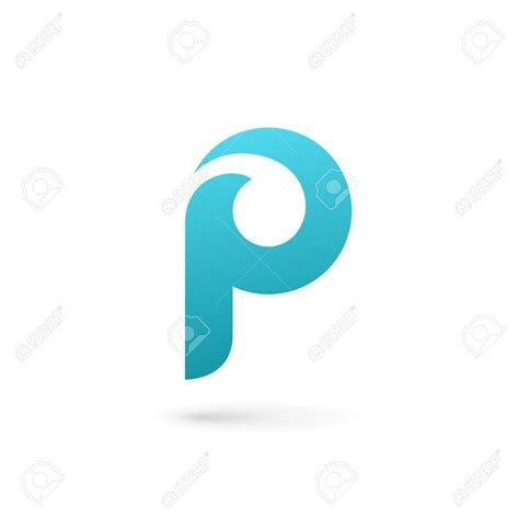 letter layout with logo letter p logo icon design template elements royalty free