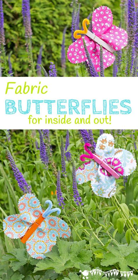 fabric crafts spring fabric clothespin butterflies crafts activities