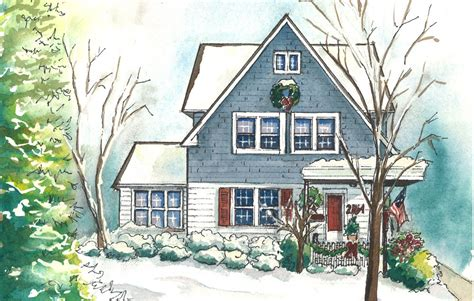 painting of house watercolor house portraits custom painting of your home